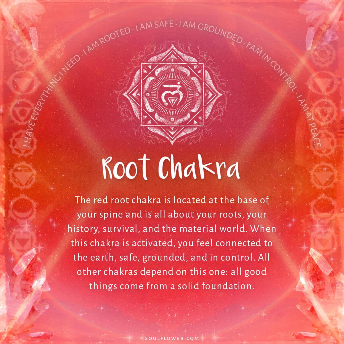 1st chakra root - Chakra Chart Meanings
