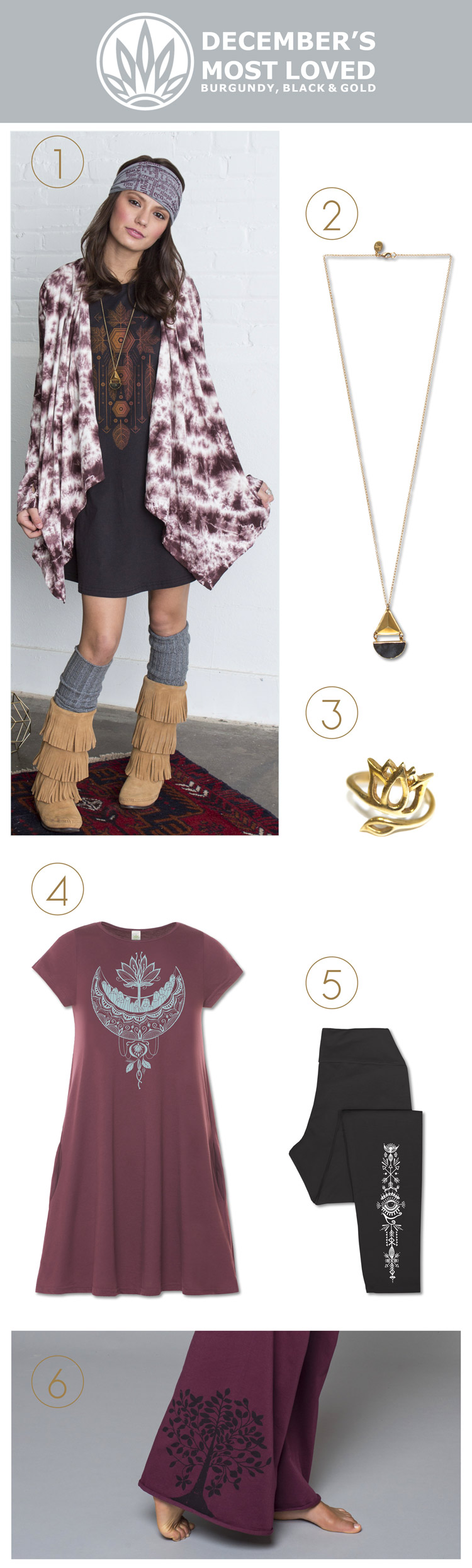 December's Most Loved | Soul Flower Clothing | Soulflower | Organic Clothes | Eco-Friendly | Boho Jewelry