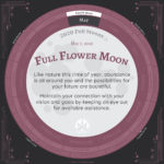 Moon Calendar 2020 - May Full Moon