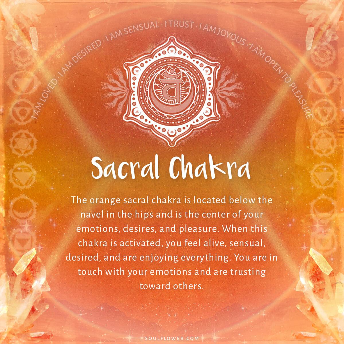 2nd chakra sacral - Chakra Chart Meanings