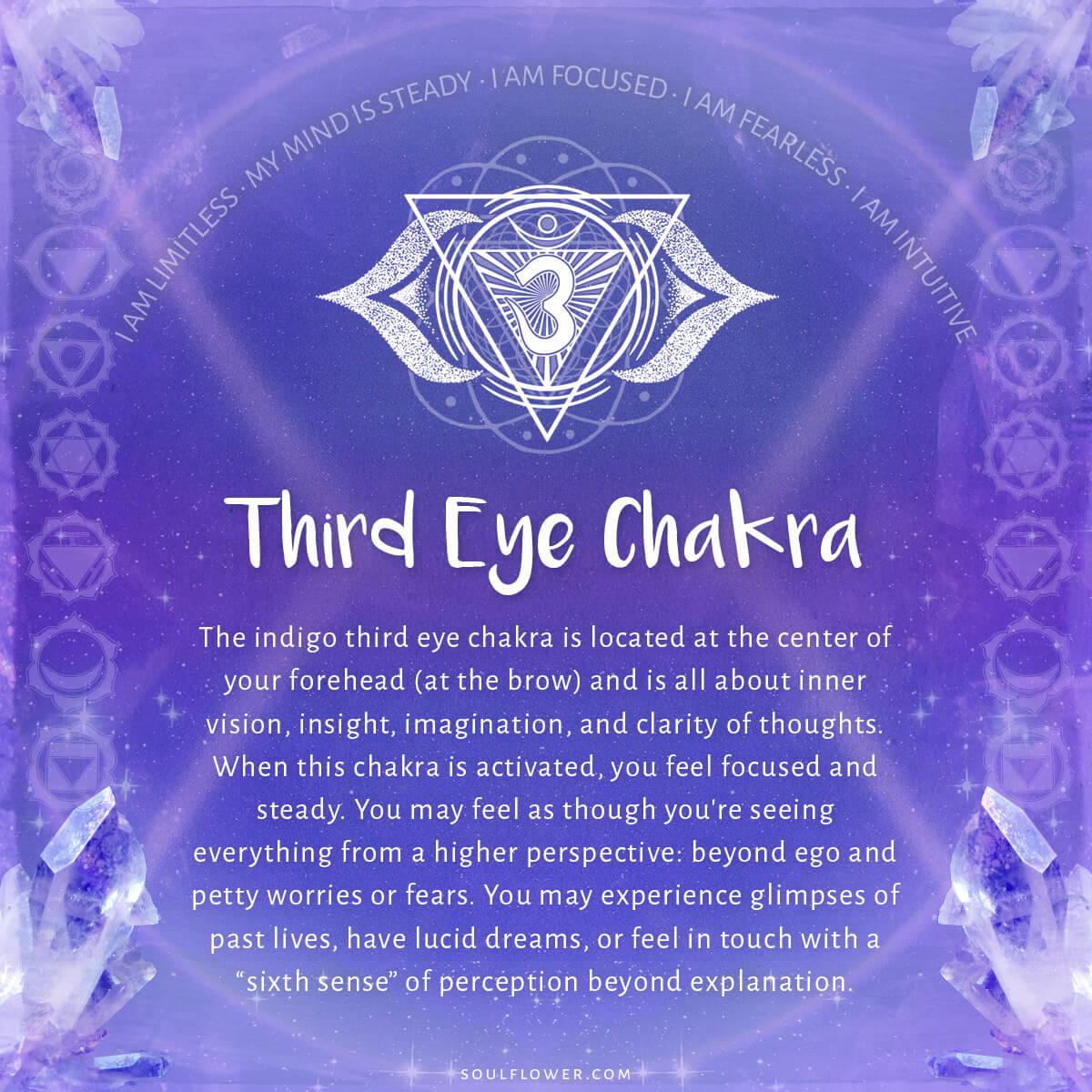6th chakra third eye chakra chart meanings soul flower blog