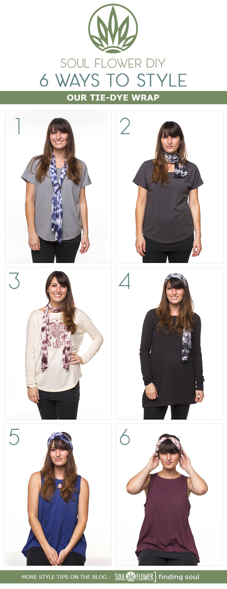 ALL - 6 Ways to Style Our Tie-Dye Wrap