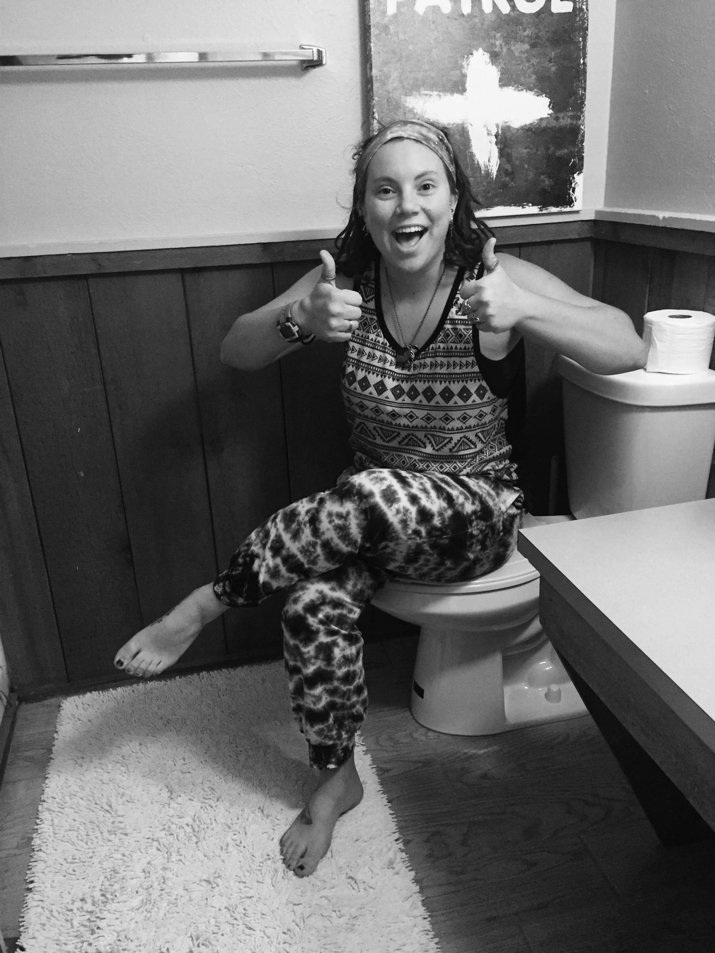 Amanda tie dye harem 1 - Indoor Plumbing for the Gold!