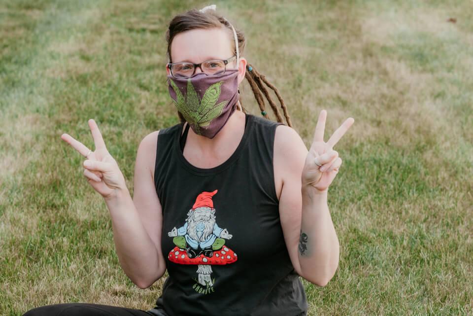 Covid19 Boho Hippie Mask 16 - Boho Headbands, COVID-19 Edition