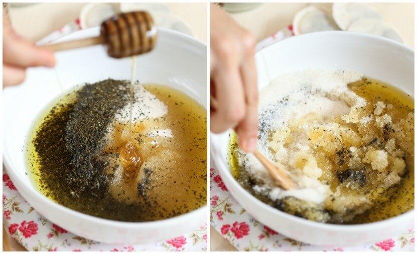 DIY SCRUB2 - DIY Green Tea Sugar Scrub