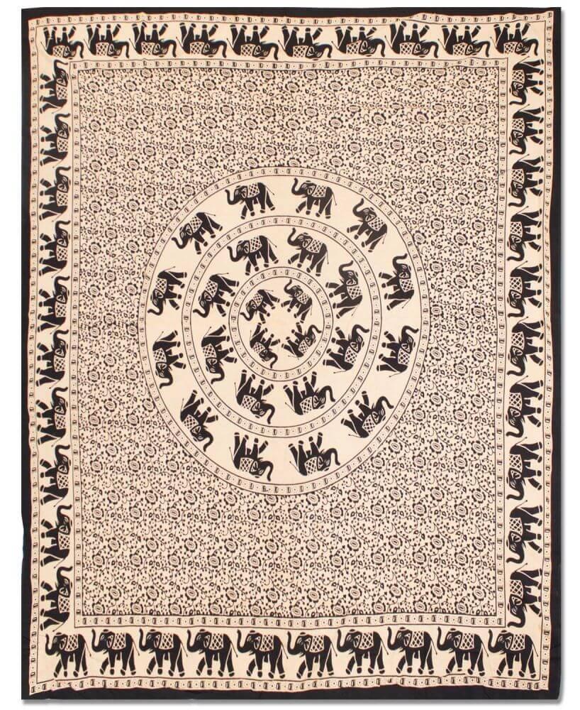 Bohemian Elephant Tapestry