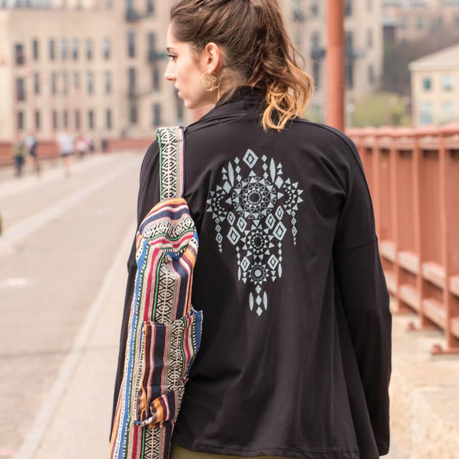 Flow Collection: Rising Sun Drape Front Cardigan