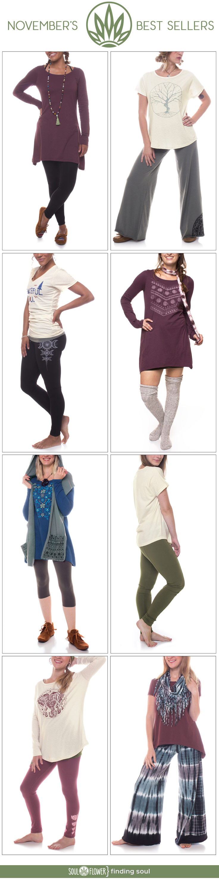 November Best Sellers | Soul Flower Blog | Soulflower | Eco-Friendly Clothing | Organic | Fall | Autumn | Hippie