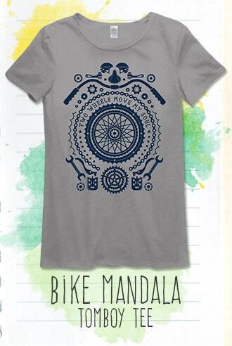 Soul Flower Clothing's Bike Mandala Recycled T-shirt