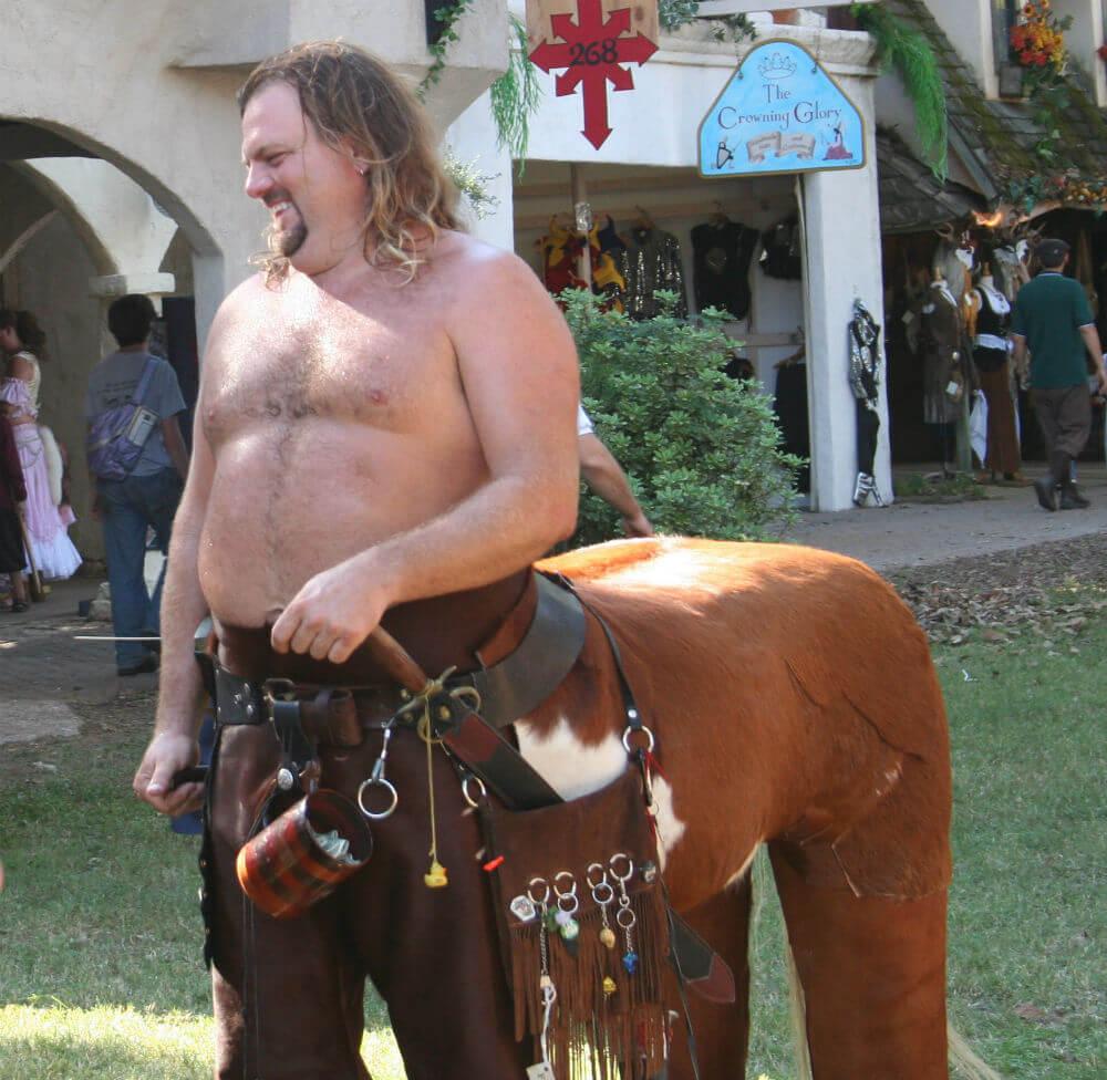 Ren Fest centaur COURTESY Ed Schipul - Embrace Good Vibes