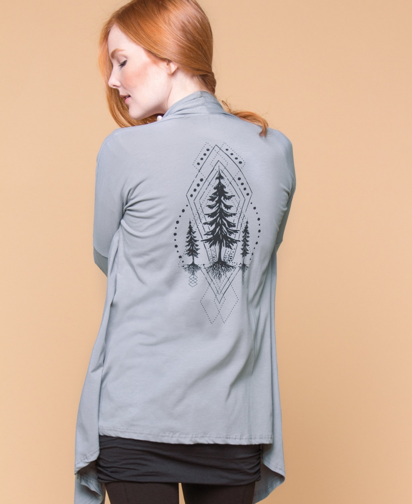 Flow Collection: Sacred Pine Draped Cardigan