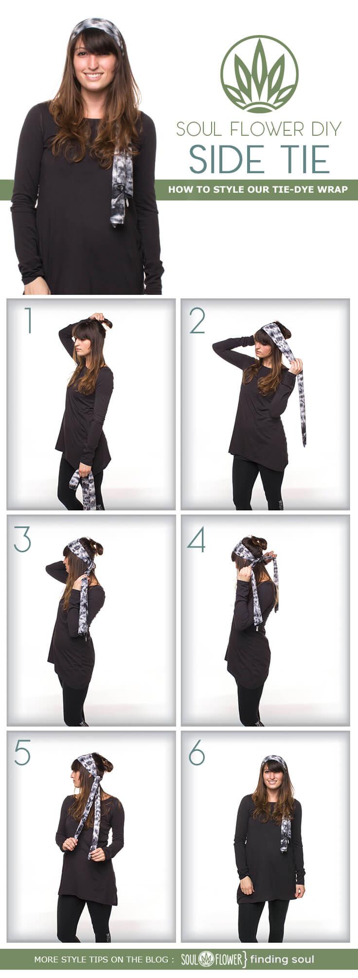 Side tie - 6 Ways to Style Our Tie-Dye Wrap