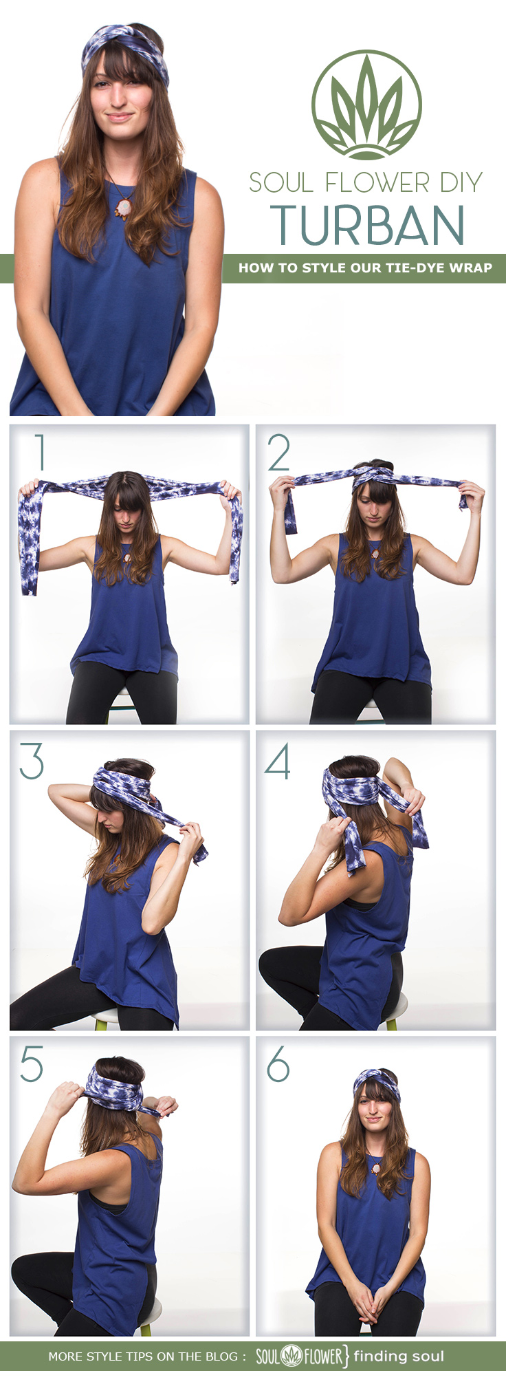 6 Ways to Style Our Tie-Dye Wrap | Soul Flower Blog | Soul Flower | Soulflower | Style Tips | boho | hippie