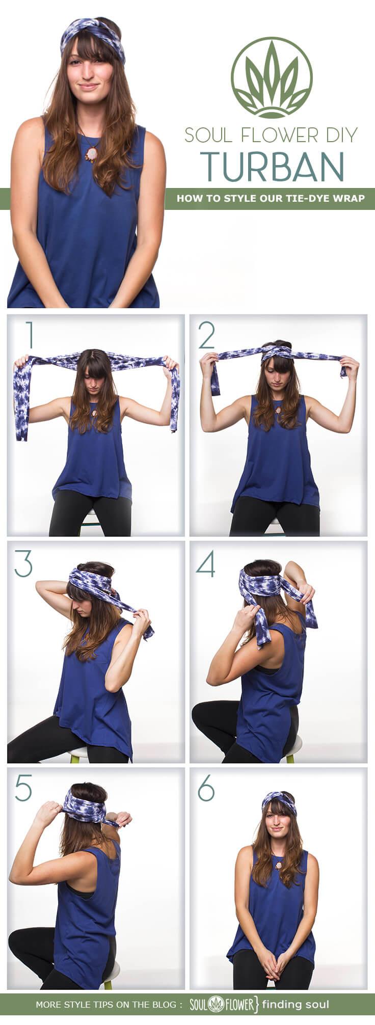 Turban - 6 Ways to Style Our Tie-Dye Wrap