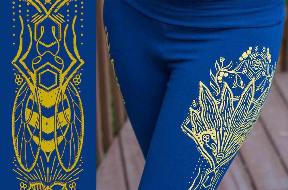 bee art closeup - The Art of Leggings
