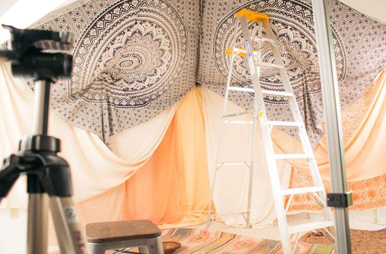 bohemian tent diy 5 - Bohemian Tent DIY - How to Make a Boho Tent