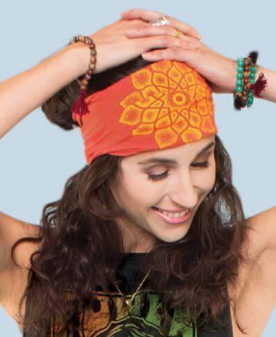 Sacred Geometry Headband - Boho Headband