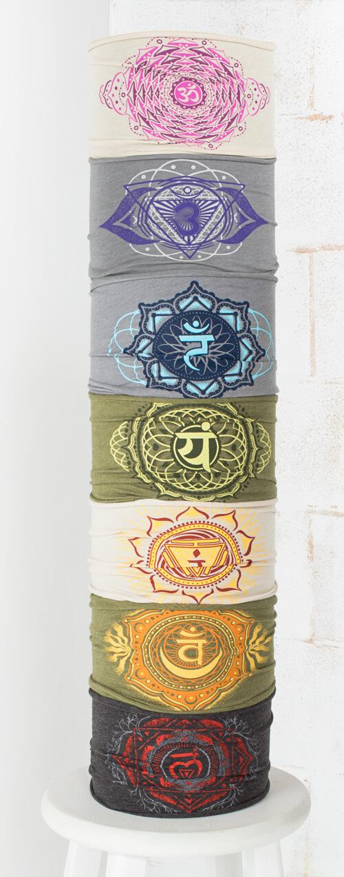 charka clothing collection chakra headbands - Chakra Chart Meanings
