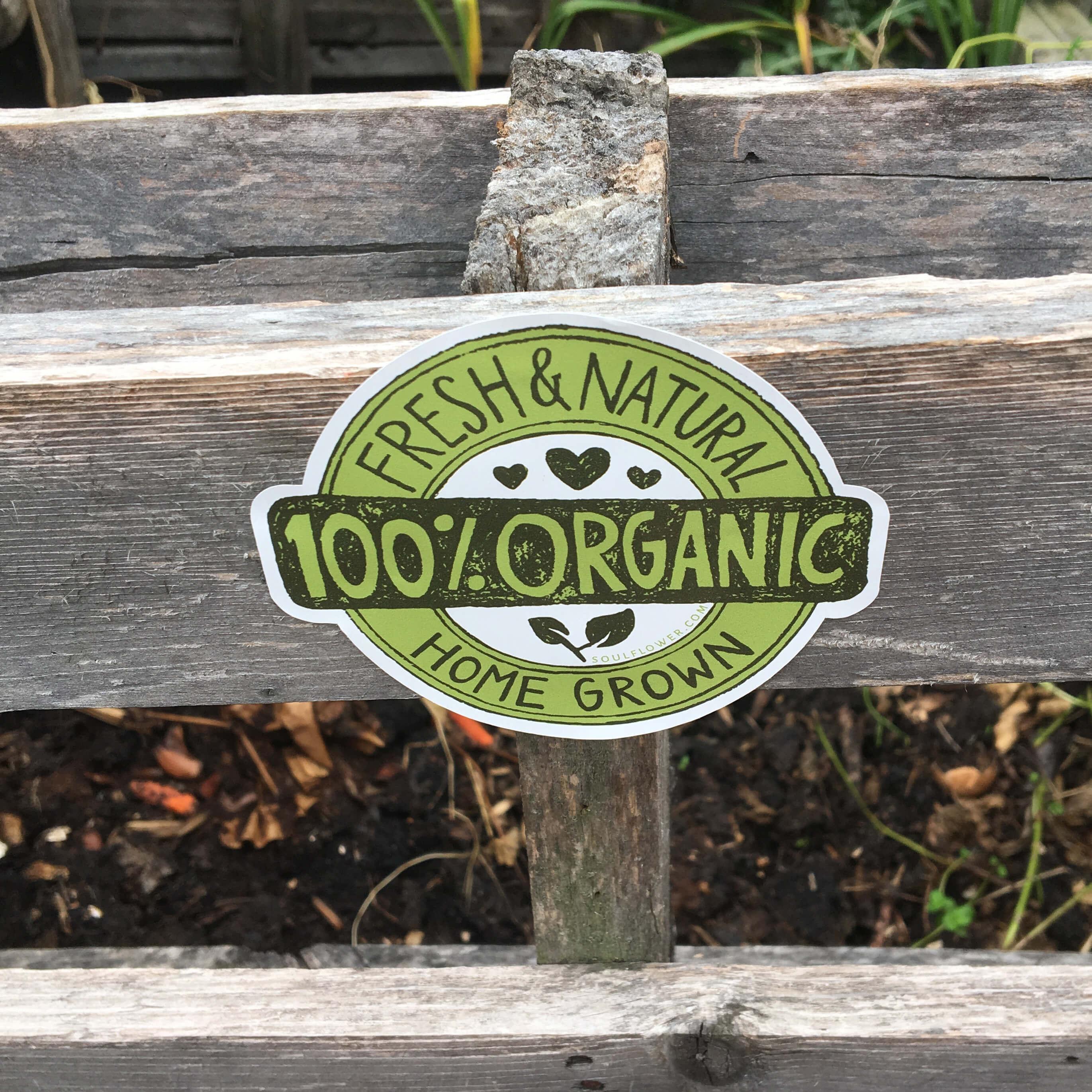 Hippie Bumper Stickers - Cool Hippie Stickers - 100% Organic Die Cut Sticker
