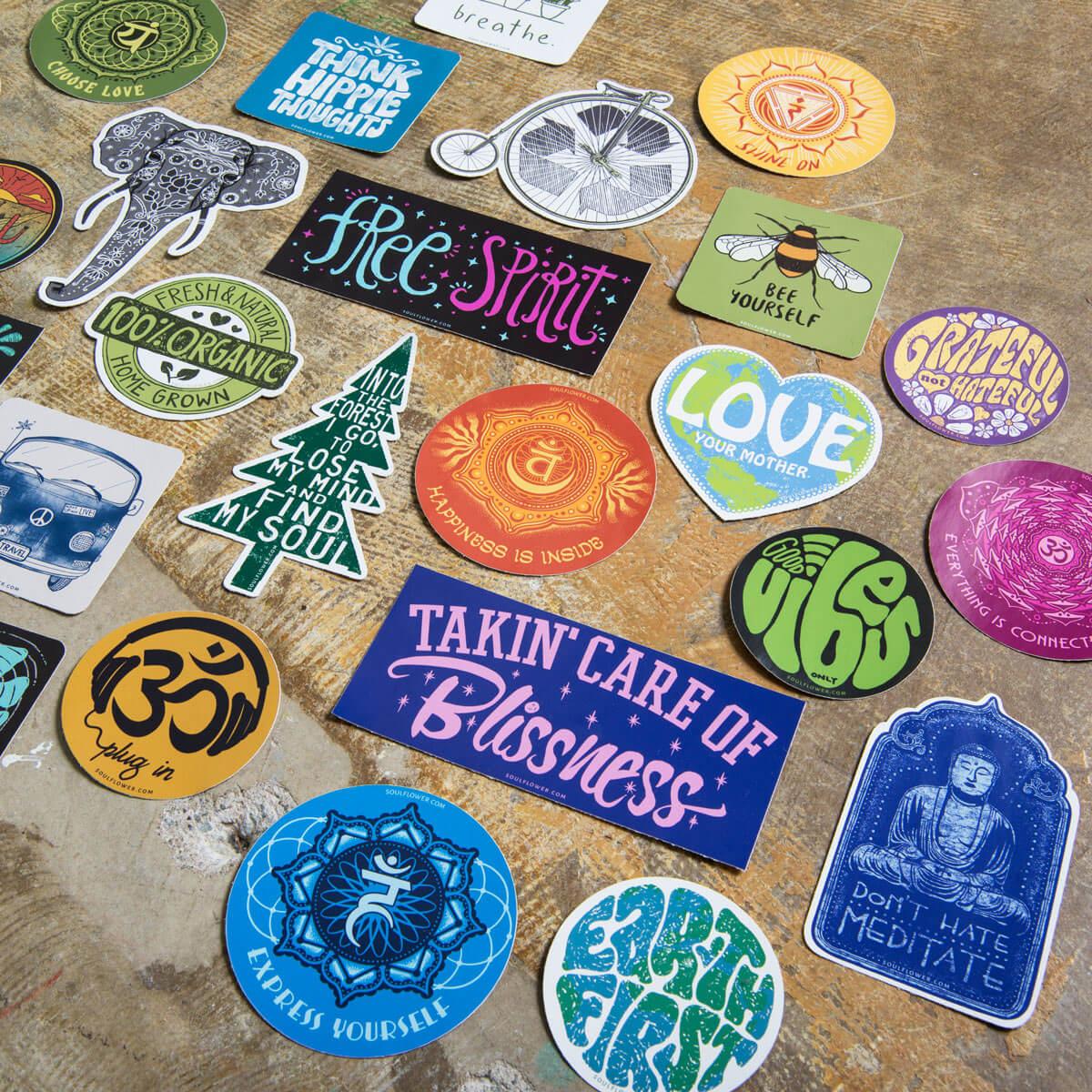 Hippie Bumper Stickers - Cool Hippie Stickers