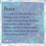 Peace Definition