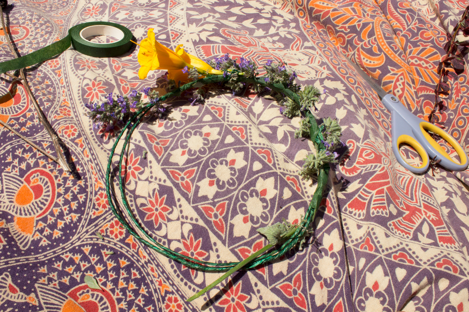 diy flower crown headband 1 - Hippie Flower Crown- DIY Flower Crown Headband
