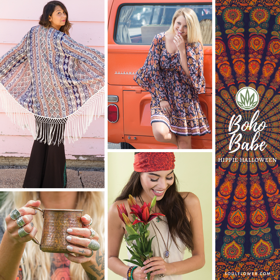 diy hippie halloween boho babe - DIY Hippie Outfit Ideas - Hippie Outfits for Every Day