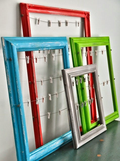 Clothespin Picture Frames - Sticker Display Ideas - DIY Sticker Display Ideas