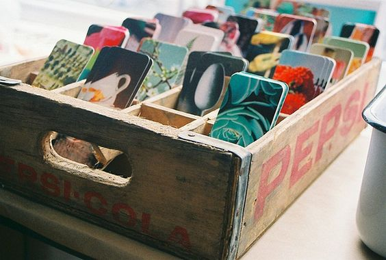 Sticker Display Ideas - DIY Sticker Display Ideas - Old Box