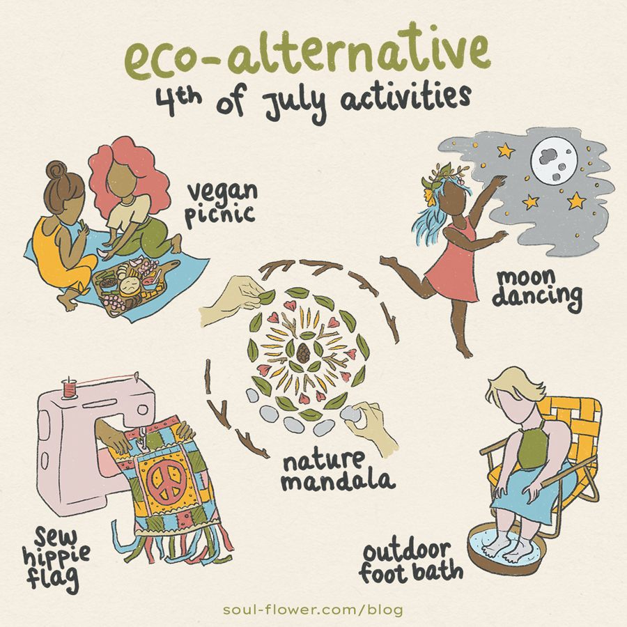eco alternative 4th of july activities - Eco-Friendly 4th of July Ideas