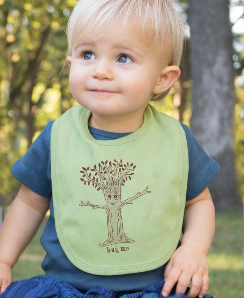 Eco Baby Gifts - Organic Baby Bibs - Hug Me Bib