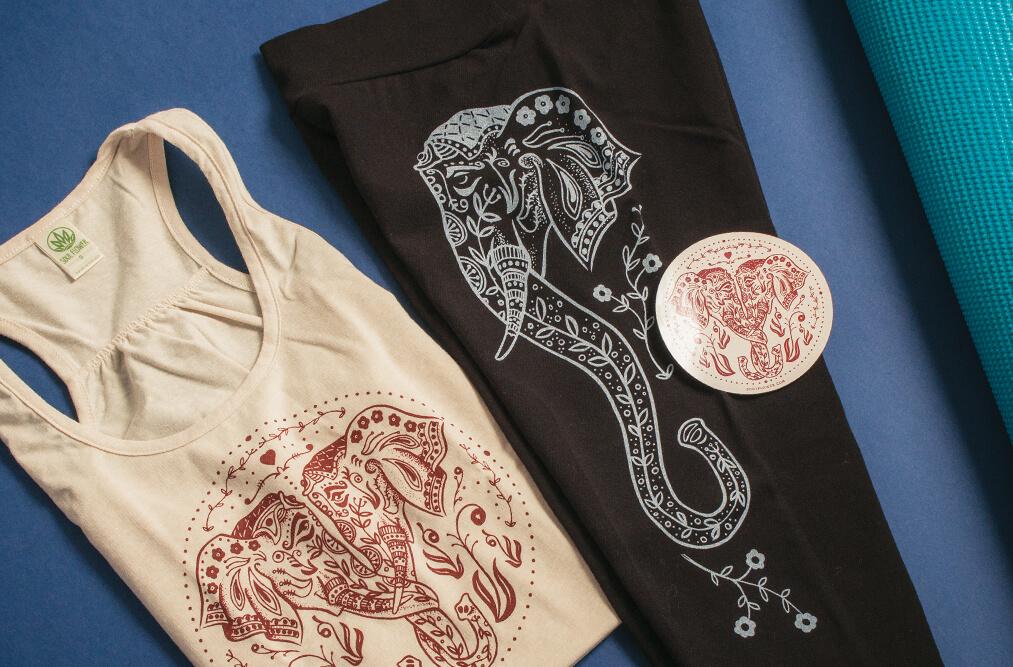 elephant art yoga apparel - The Art of Leggings