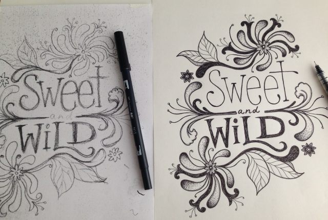 first sketch vs final 640x430 - Behind the Design: Sweet & Wild Tee