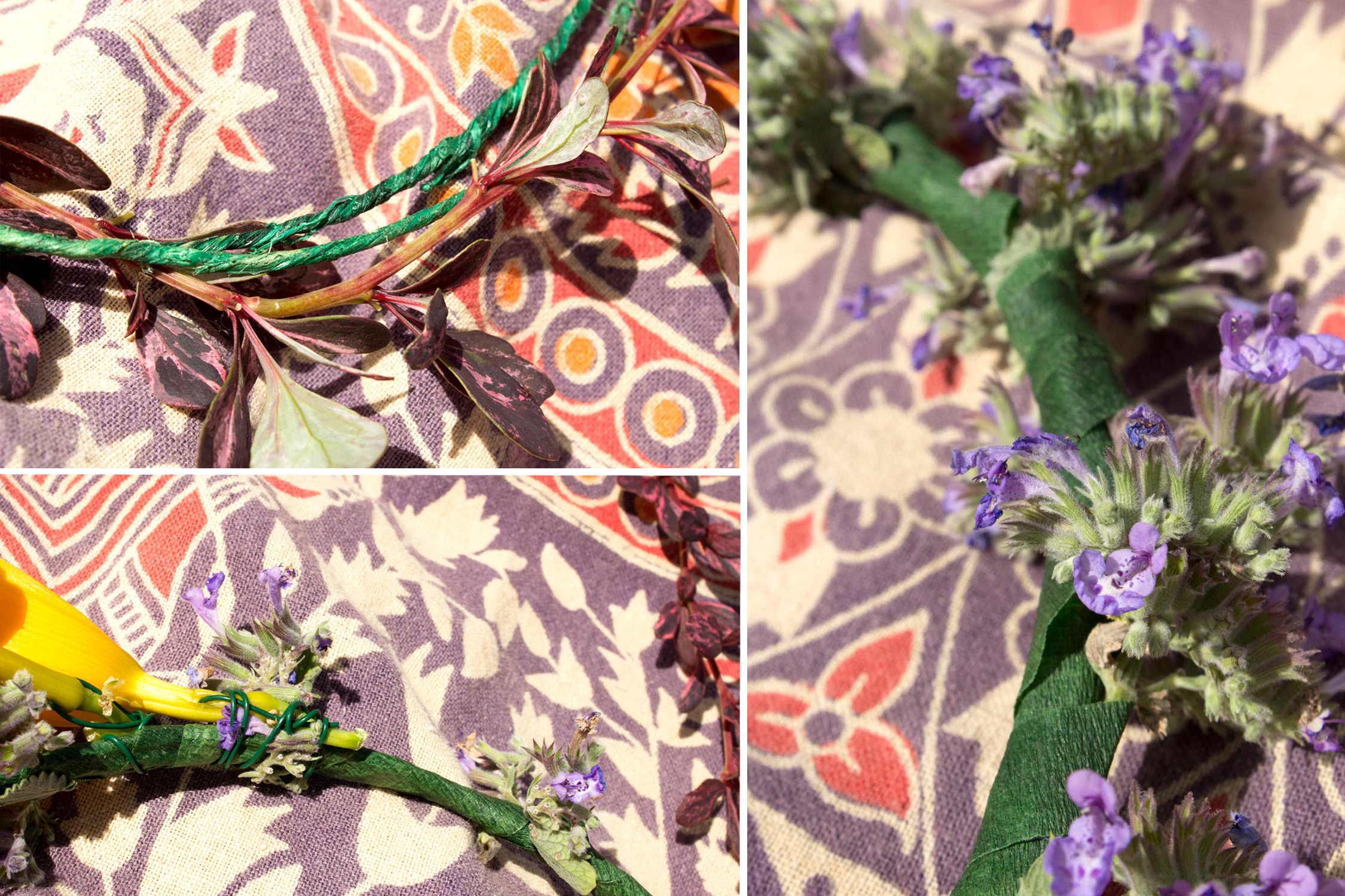 flower crown 1 - Hippie Flower Crown- DIY Flower Crown Headband