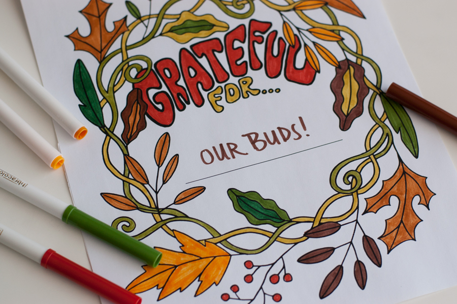 grateful 3 - Thanksgiving Coloring Page - Grateful Coloring Page