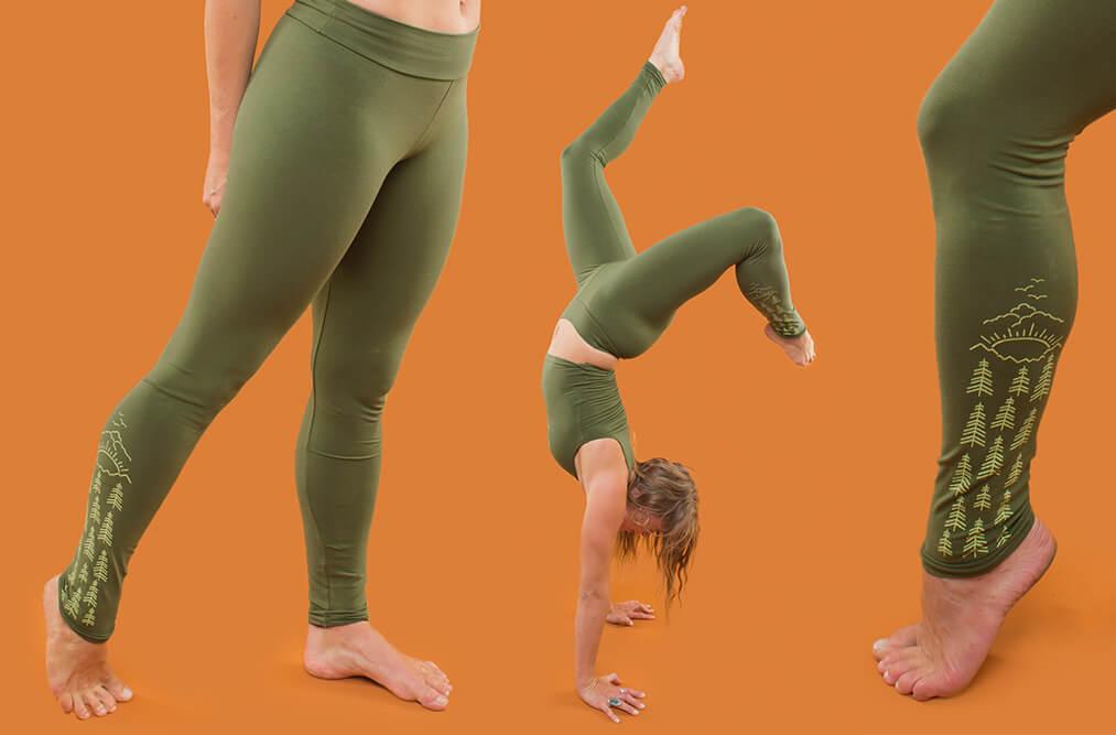green tree usa leggings - The Art of Leggings