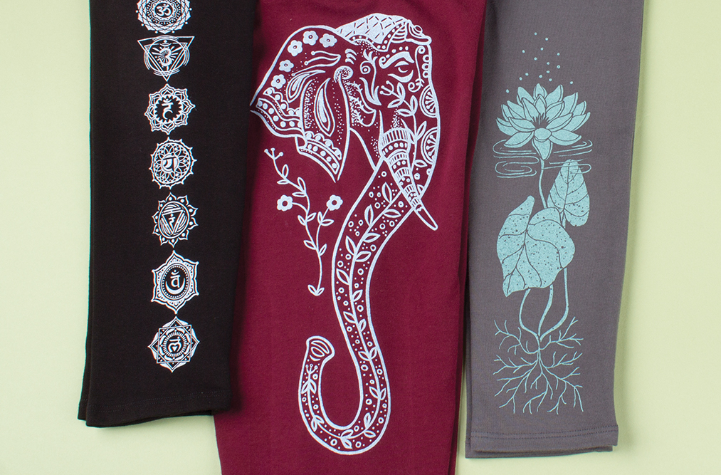 hand drawn organic cotton tights - The Art of Leggings