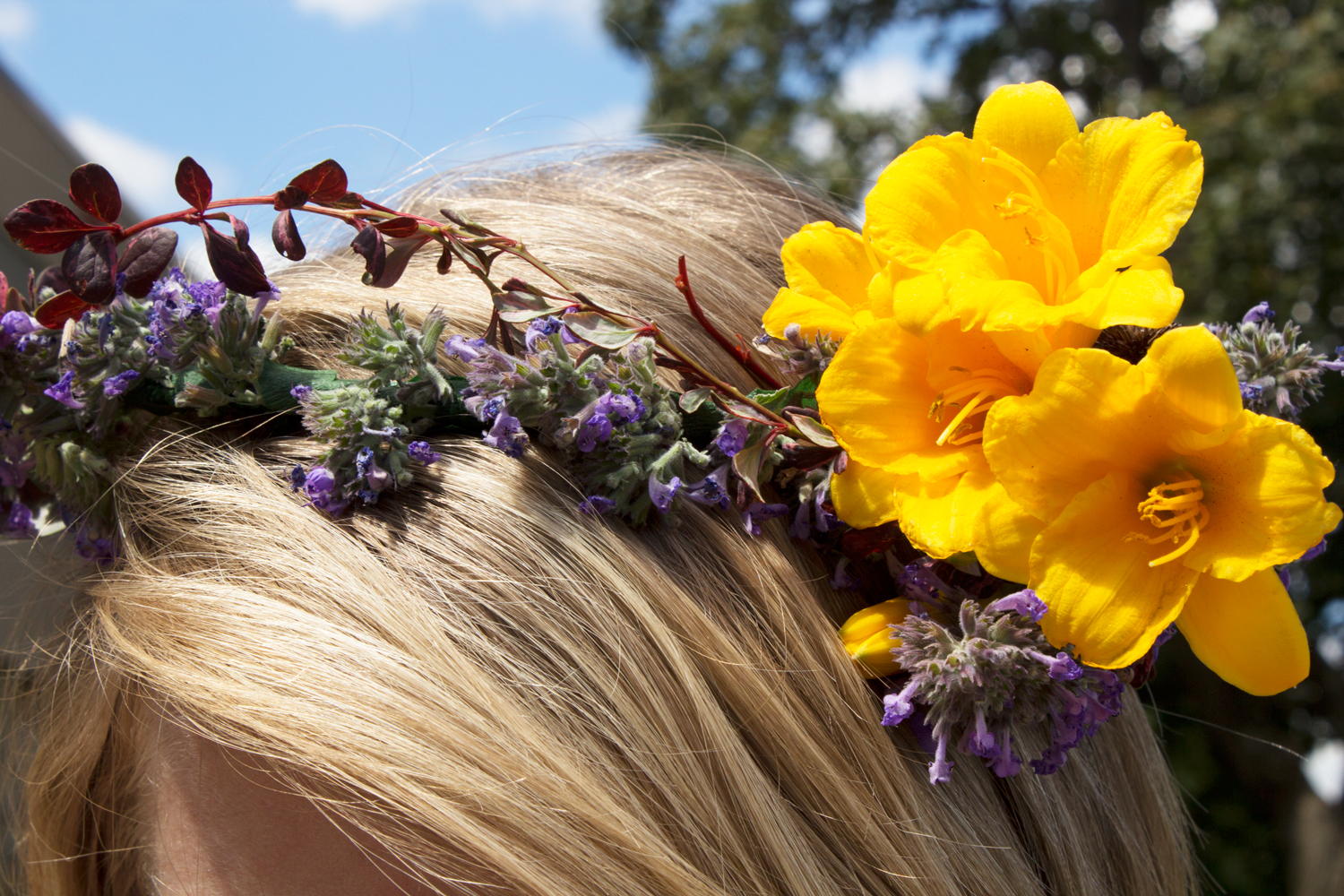 hippie flower crown 8 - Hippie Flower Crown- DIY Flower Crown Headband