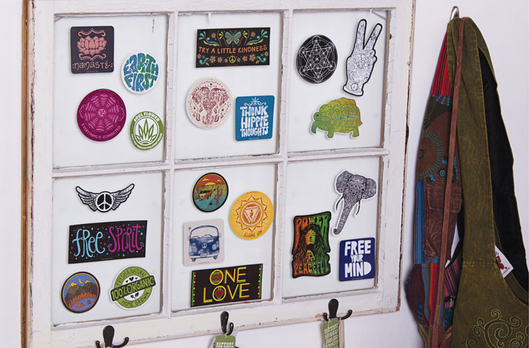 hippie merchandising display sticker - DIY Retail Display Ideas to Try in Your Shop