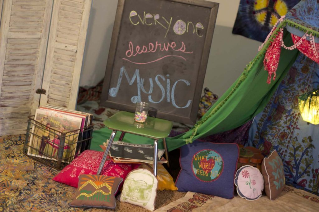 How to Build an Indoor Fort: Kids Bohemian Tent