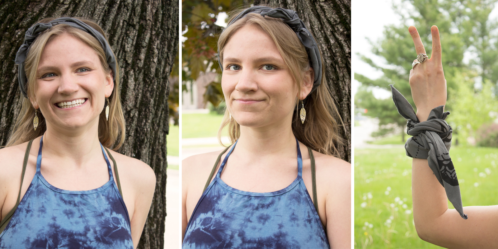 how to wear a bandana hippie knot - How to Wear a Bandana - Hippie Style!