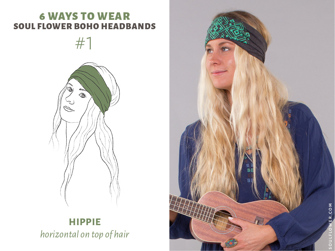 How to Wear a Thick Headband - Boho Headbands