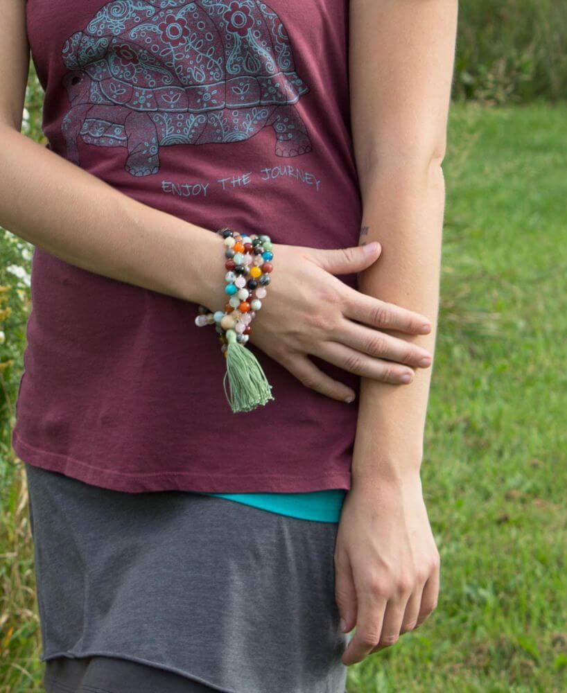 Wear a Mala Necklace as a Bracelet