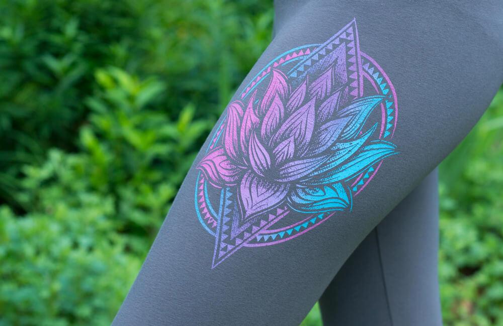 lotus organic yoga leggings - The Art of Leggings
