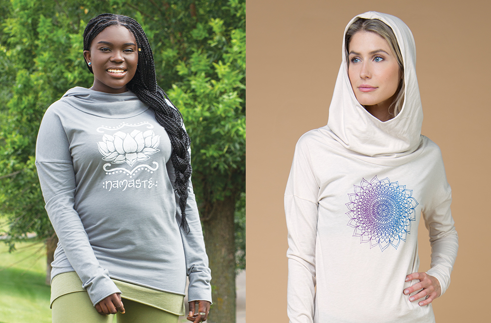 lotus yoga hoodies - Lotus Inspiration: Butterfly Vibes