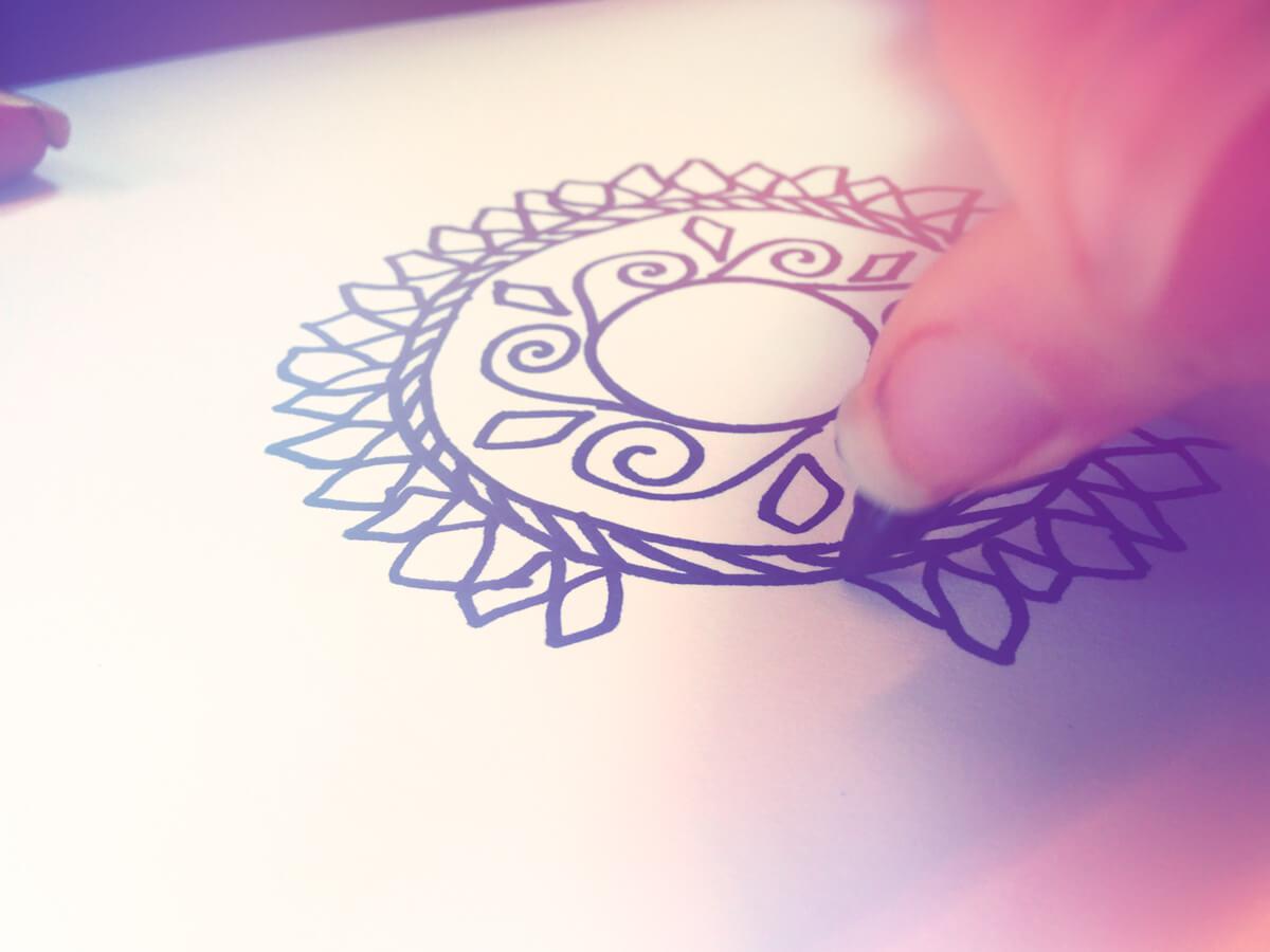 mandala 1 - Draw a Personal Mandala - Drawing a Mandala