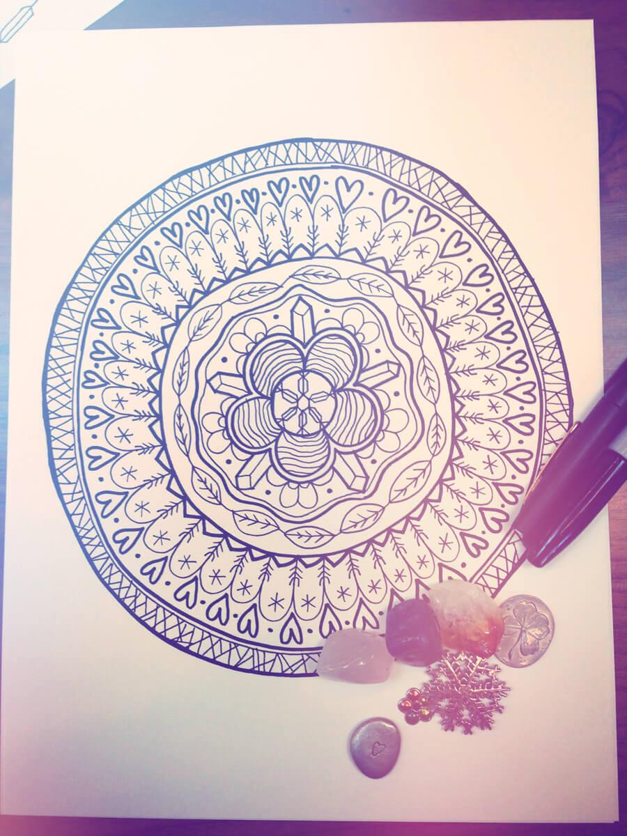 mandala 3 - Draw a Personal Mandala - Drawing a Mandala