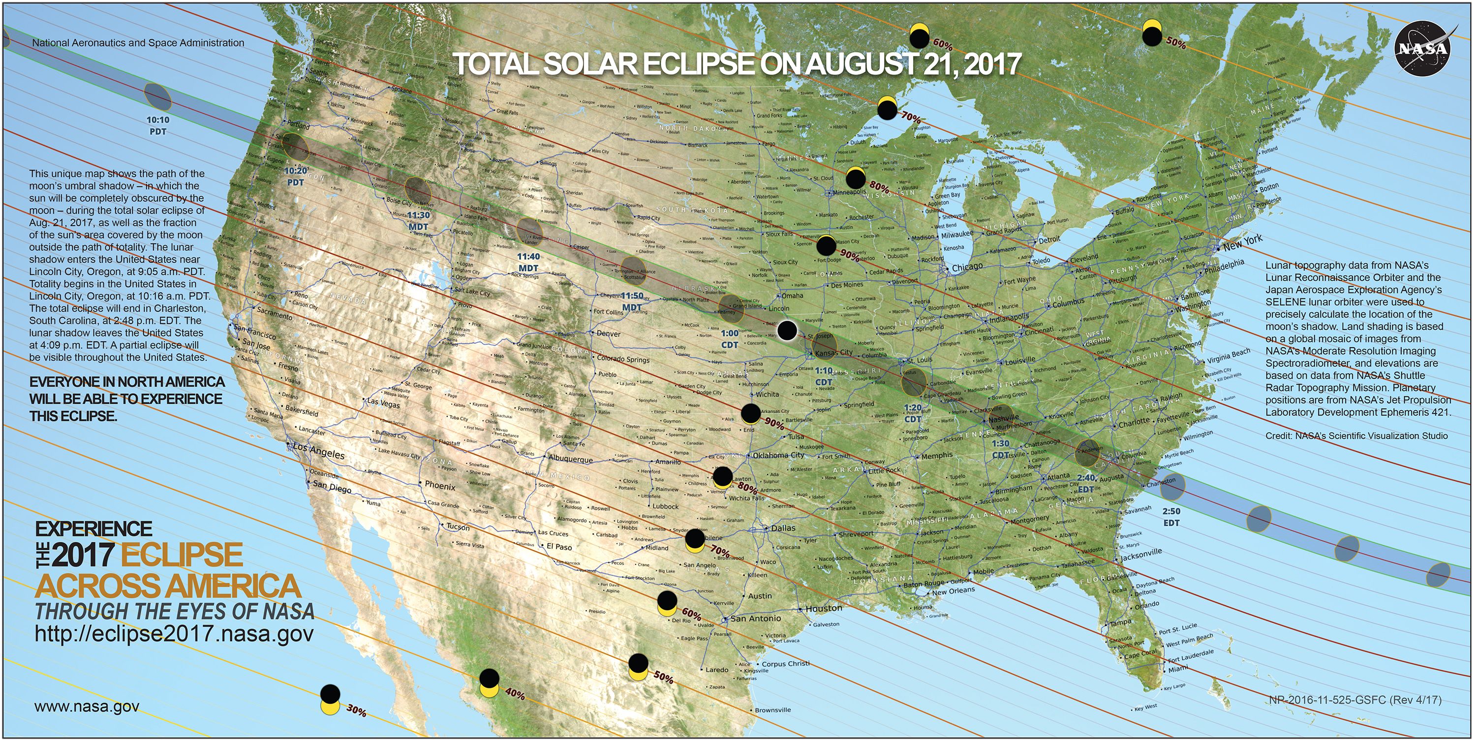 nasa eclipse map - August 21st Solar Eclipse: Remember to look up!