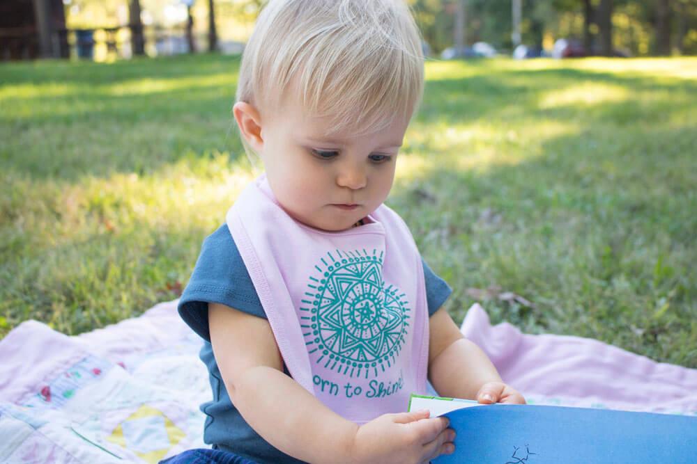 Natural Baby Clothes - Born to Shine Bib