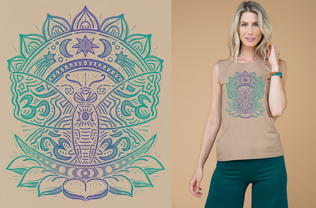 om butterfly lotus tank top - Lotus Inspiration: Butterfly Vibes